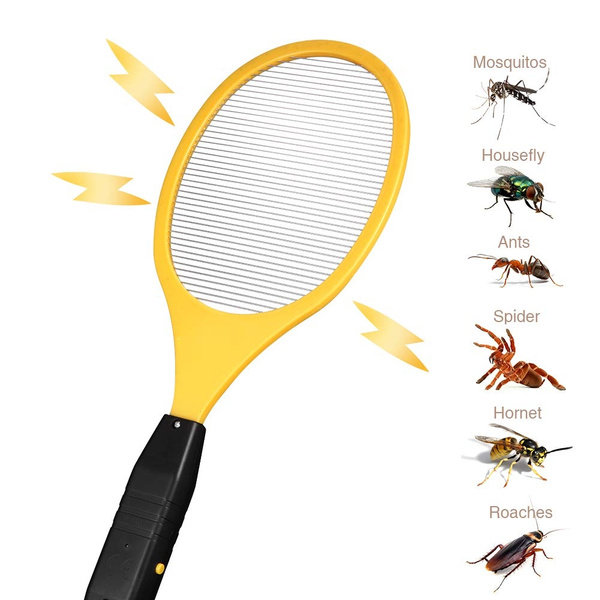 Electric Bug Zapper Racket 3,000 Volt Handheld Fly Swatter Zap Mosquito  Killer for Indoor and Outdoor Pest Control (4 DURACELL AA Batteries  Included)