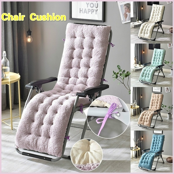 Strange 130X50Cm 160X50Cm Soft Recliner Chair Thickened Lamb Velvet Seat Pad Replacement Cushion Pad Garden Sun Lounge Chair Cushion Creativecarmelina Interior Chair Design Creativecarmelinacom