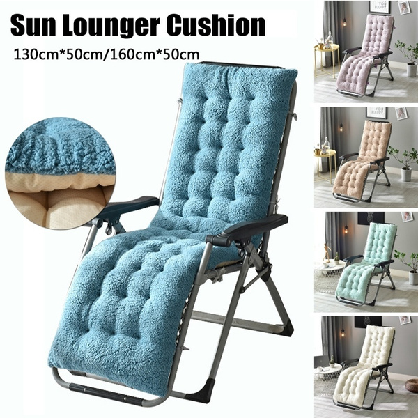 Wondrous 130X50Cm 160X50Cm Soft Recliner Chair Thickened Lamb Velvet Seat Pad Replacement Cushion Pad Garden Sun Lounge Chair Cushion Creativecarmelina Interior Chair Design Creativecarmelinacom