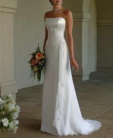 Ivory, ivorybridaldres, chiffonweddingdresse, Vestidos
