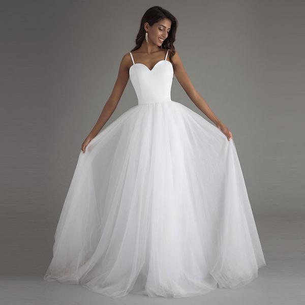 Plus Size Beach Wedding Dress With Spaghetti Straps And Simplistic  Silhouette