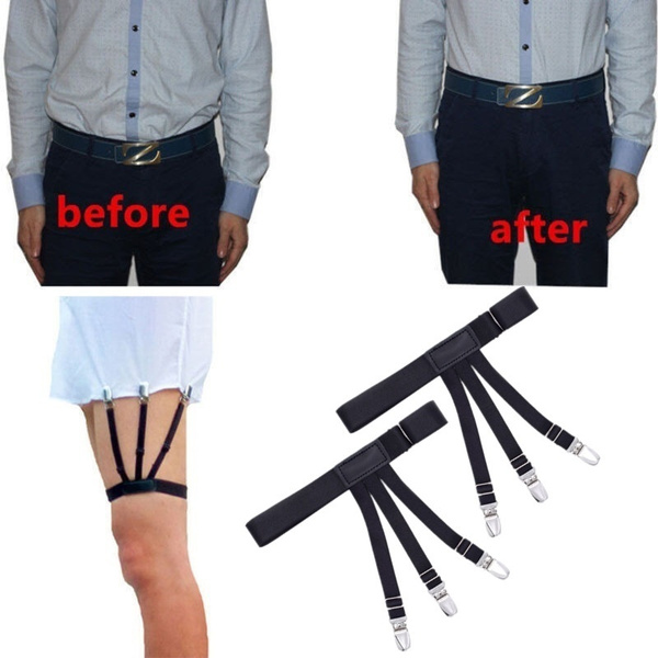 2pcs//Pair S Holders Hidden Suspenders Keeping Your Shirt Tucked In All Day