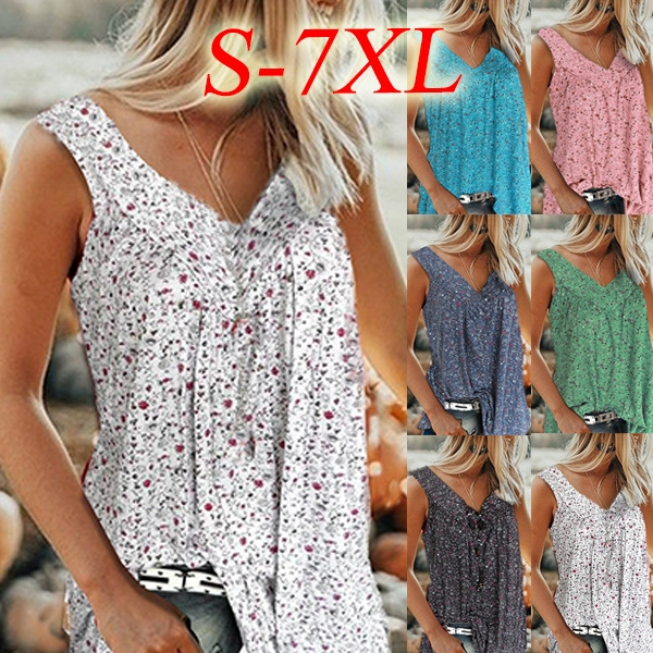 Summer, Vest, Plus Size, tunic