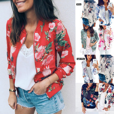 casual coat, Jacket, Fashion, Floral print