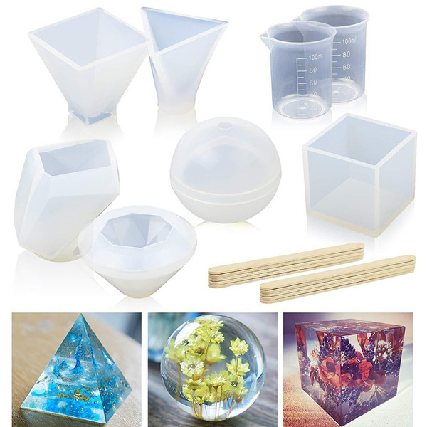 DIY Silicone Pendant Mold Making Jewelry Pendant Resin Casting Mould Craft.