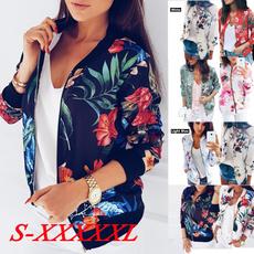 casual coat, femaletop, Fashion, Floral print