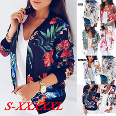 casual coat, femaletop, Fashion, Floral print