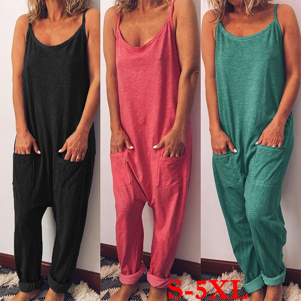 Plus Size, wideleg, looseoverall, Casual pants