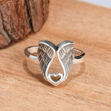 Sterling, Silver Jewelry, Love, angelwingsring