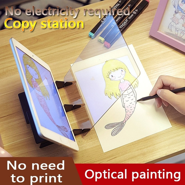 Easy Optical Tracing Drawing Pad Board,Sketch Drawing Board Optical Picture  Book Painting Artifact Sketching Kit for Kids