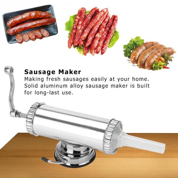 2LB Aluminum Alloy Sausage Stuffer Maker Meat Filler for Commercial Home Use New
