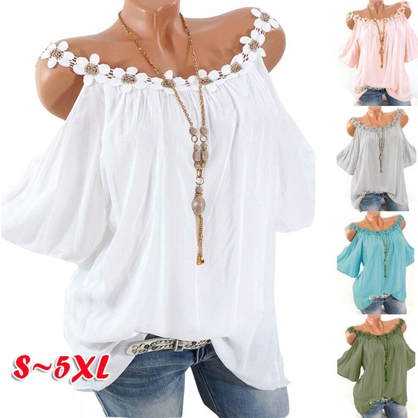 blouse, Summer, Plus Size, off the shoulder top