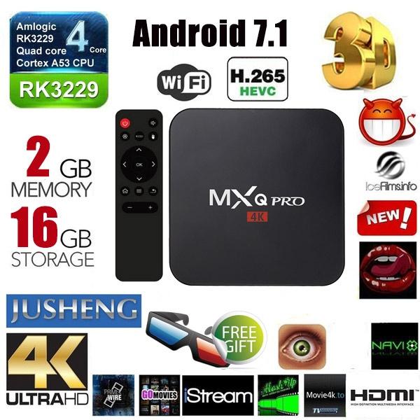2020 NEW Upgrade MXQ Pro 2G RAM+16G ROM Smart TV BOX Fully Loaded 4K Quad  Core Media Player(Plug:US UK EU AU DE IT)