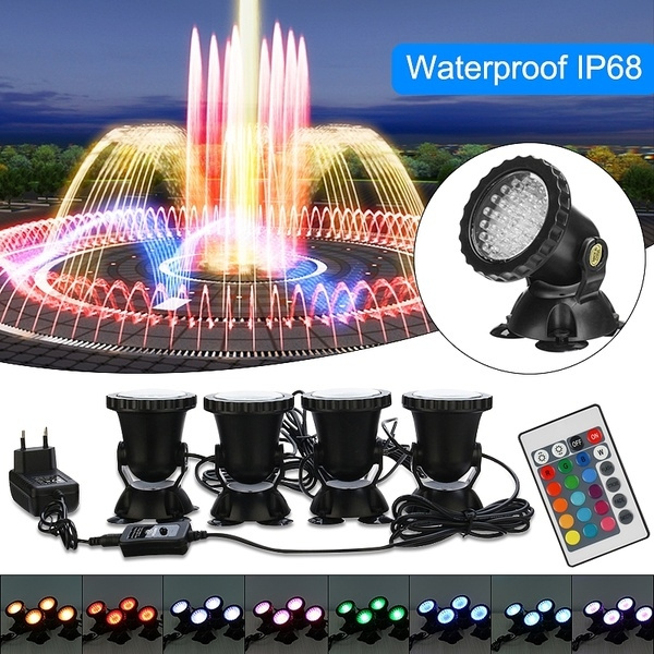 Multi-color 36 LED Underwater Spot Light Water Aquarium Fountain Fish Tank Pond