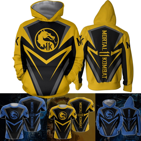 New 3d Print T Shirt Pullover Hoodies Hot Fight Game Mortal