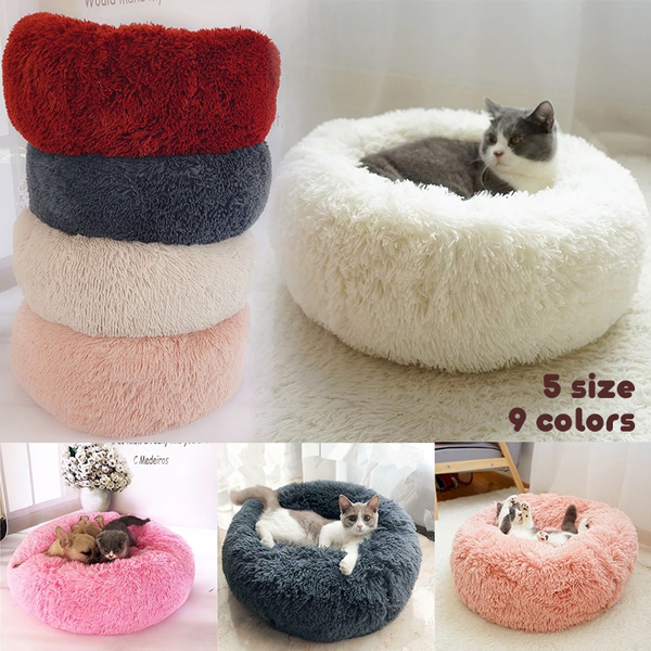 Superb Round Dog Bed Washable Pet Cat House Puppy Sleeping Bed Lounger Sofa For Small Medium Dogs Super Soft Plush Pads Andrewgaddart Wooden Chair Designs For Living Room Andrewgaddartcom