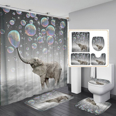 3dcurtain, Bathroom, Bathroom Accessories, bathroomrugsset
