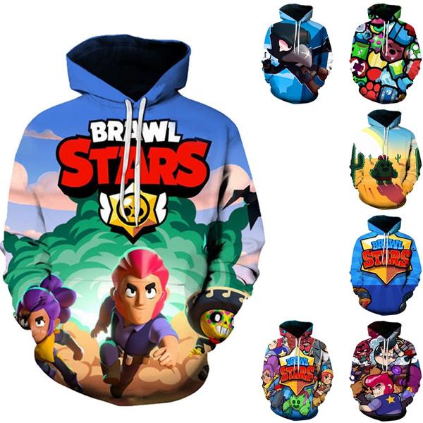 Kids Funny 3d Print Sweatshirt Teen Boys Girls Game Brawl Stars Hoodies 1 14y