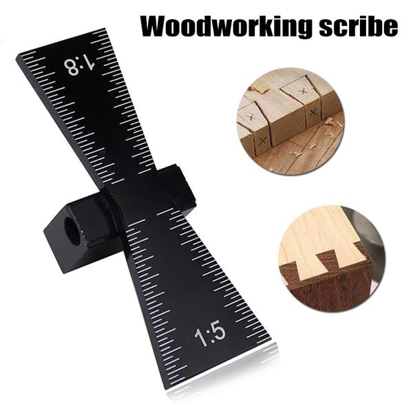 Dovetail Jig Guide Marker Aluminum Alloy Scriber Wood Joints Gauge Woodworking Tool