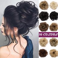 Fashion, hairbun, womenhairpiece, Hair Extensions