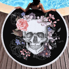 Tassels, Towels, swimmingtowel, skull
