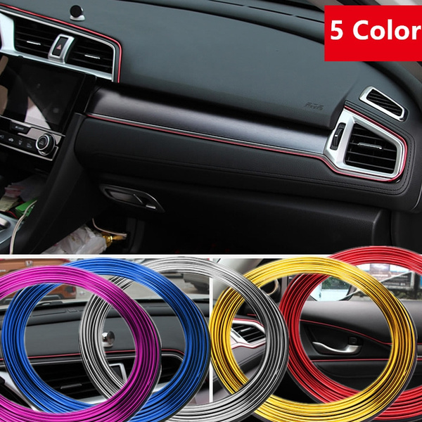 5M Adhesive Strips for Car Interior Decoration Molding Styling Auto  Accessories