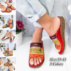Sandals & Flip Flops, Plus Size, Moda, leather