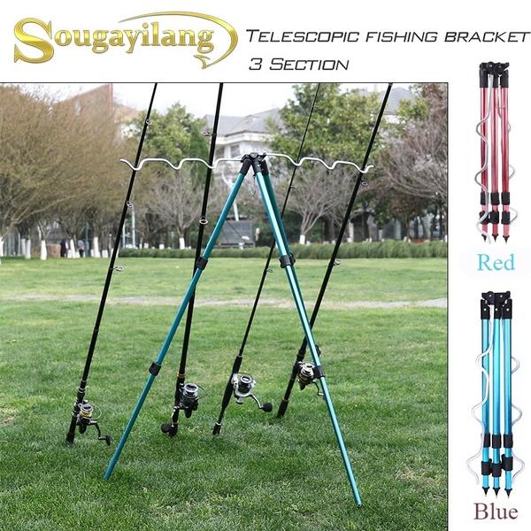 Adjustable Aluminum Alloy Telescopic Adjustable Fishing Rod Tripod Stand Holder