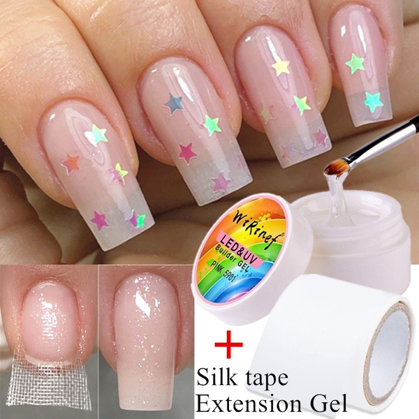 Nail Repair Fiberglass Silk Wrap with Extension Gel Anti Damage DIY Strong  Protect Reinforce Extension Sticker for Broken Manicure