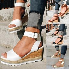 Summer, Comfortable Shoes, Moda, wedge