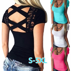 Summer, Slim Fit, Sexy Top, Sleeve
