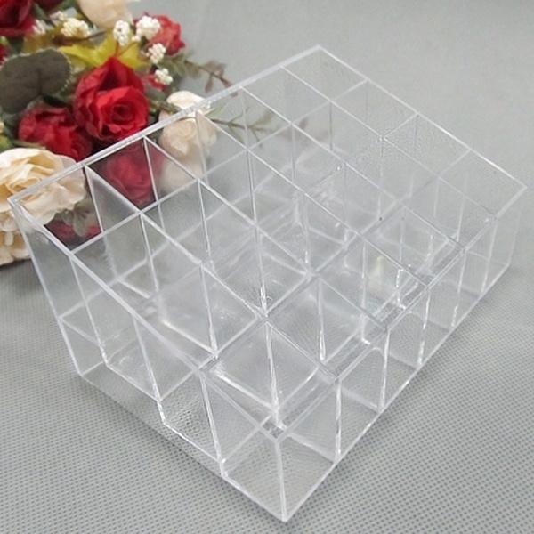 24-grid-lipstick-holder-plastic-cosmetic-organizer-lipsticks-display-rack by wish