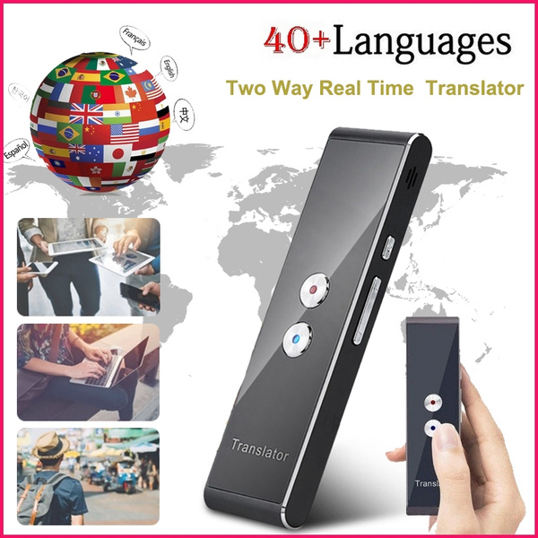 Portable Smart Instant Voice Translator 40+ Languages T6 T8 Real Time  Multi-Languages Speech Interactive Translation Tool Bluetooth Translator