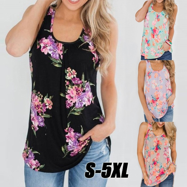 Summer, Plus Size, Tank, Tops