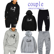 Couple Hoodies, King, Fashion, Sleeve