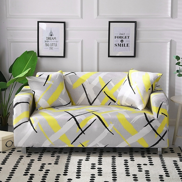 Prime Simple Lines Home Textile Slipcover Stretch Sofa Cover Big Elasticity Couch Polyester Flower Printed Sofa Cover Loveseat Sofa Funiture Cover Brief Uwap Interior Chair Design Uwaporg