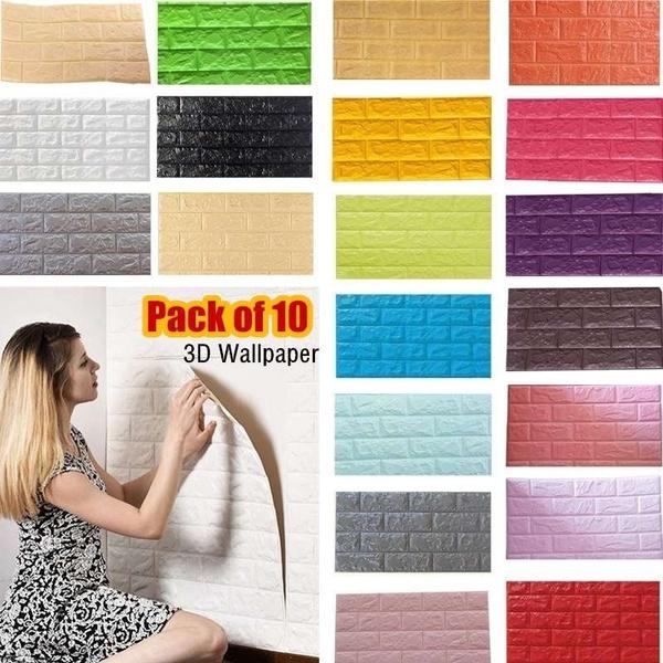 3dbrickwallpaper, Home Decor, decorsticker, 3dwallpaperwallpaper