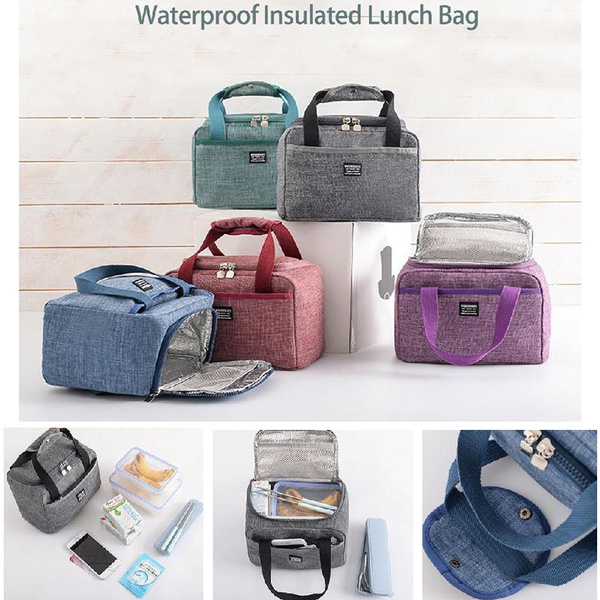 Portable Insulated Thermal Cooler Lunch Box Bento Tote Storage Bag Case Picnic