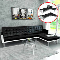 cornersofa, black, leather, Sofas