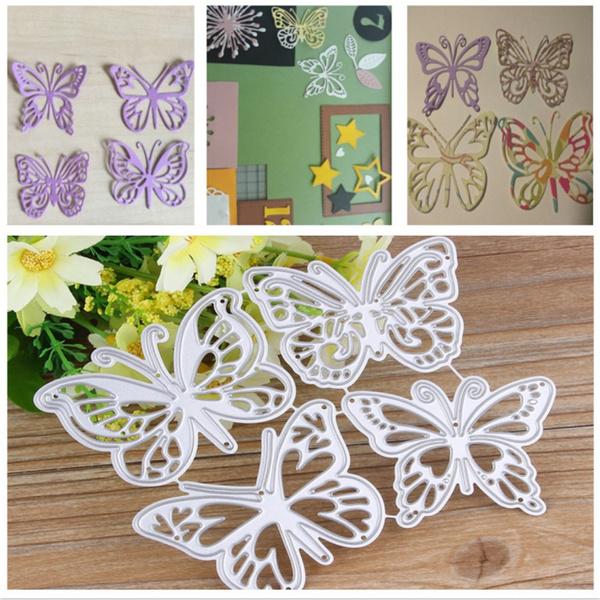 Flower Butterfly Metal Cutting Dies DIY Scrapbooking Album Paper Card Embossing