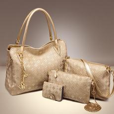 women single shoulder bag, Fashion, goldbag, bigcasualbag