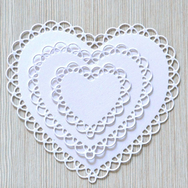Heart Frame Metal Cutting Dies Stencil Scrapbooking Paper Card Embossing Craft