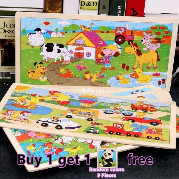 6096 Pieces Colorful Wooden Jigsaw Puzzles Set For Kids Age 2 6 Year Old Wooden Puzzles For Toddler Children Learning Educational Puzzles Toys For