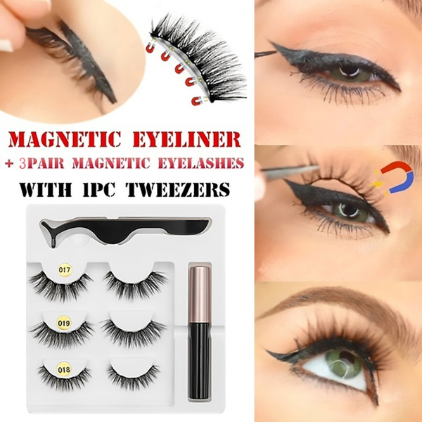 New Five Magnetic Eyeliner With Magnetic Eyelashes Magnetic Lash Liner For  Use With Magnetic False Lashes Women Beauty Eye Fashion Handmade Waterproof