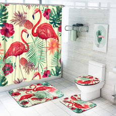 Bathroom, flamingo, bathroomdecor, pedestalrug