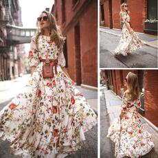 Sleeve, Round Collar, Dress, summer dress