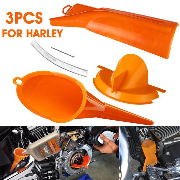 Crankcase Fill Funnel Primary Case Oil Fill Drip-Free Oil Funnel For All Harley
