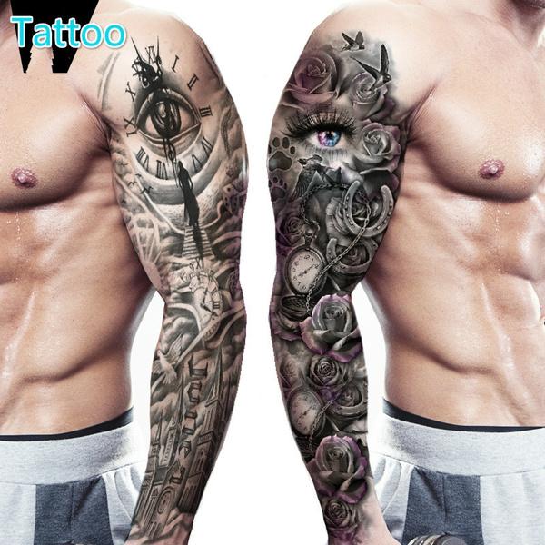 tattoostickersmen, temporarytatto, waterprooftattoosticker, Sleeve