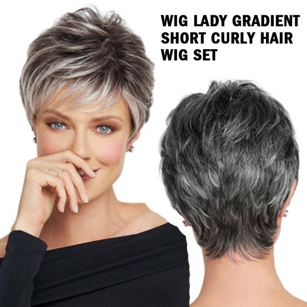 wig, explosion models, Shorts, gradient
