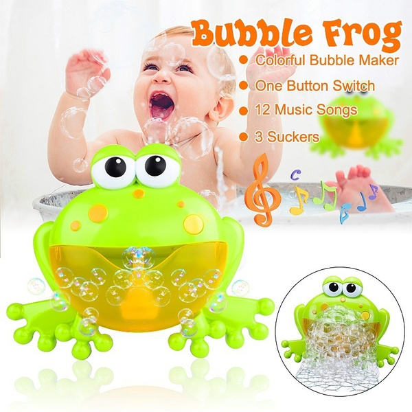 Baby Kids Bubble Frog Automatic Shower Machine Blower Maker Bath Music Toy  !